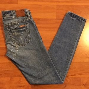 A|X Armani Exchange Distressed Jeans